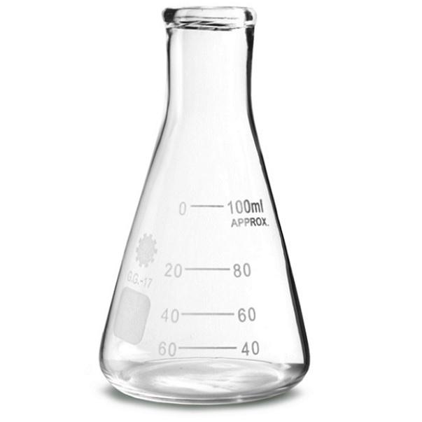 Beaker Flask בקבוק מעבדה ביקר זכוכית ארלנמייר פיירקס