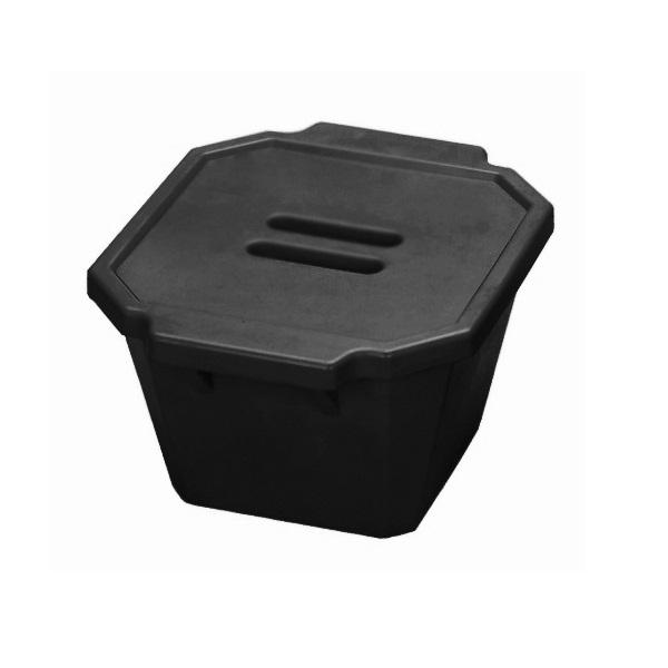 סל קרח שחור עם מכסה Ice Bucket with lid
