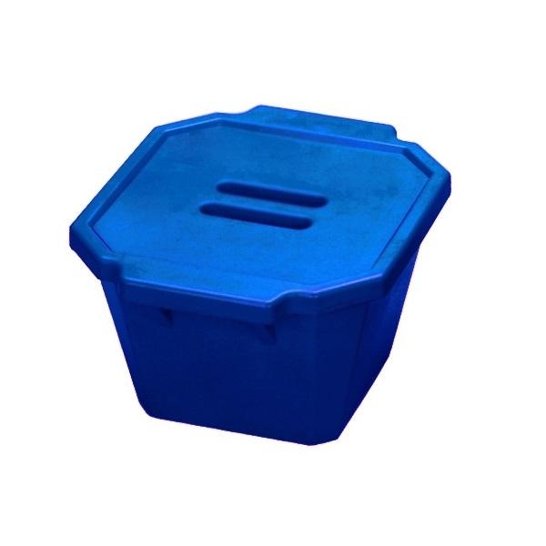 סל קרח כחול עם מכסה Ice Bucket with lid